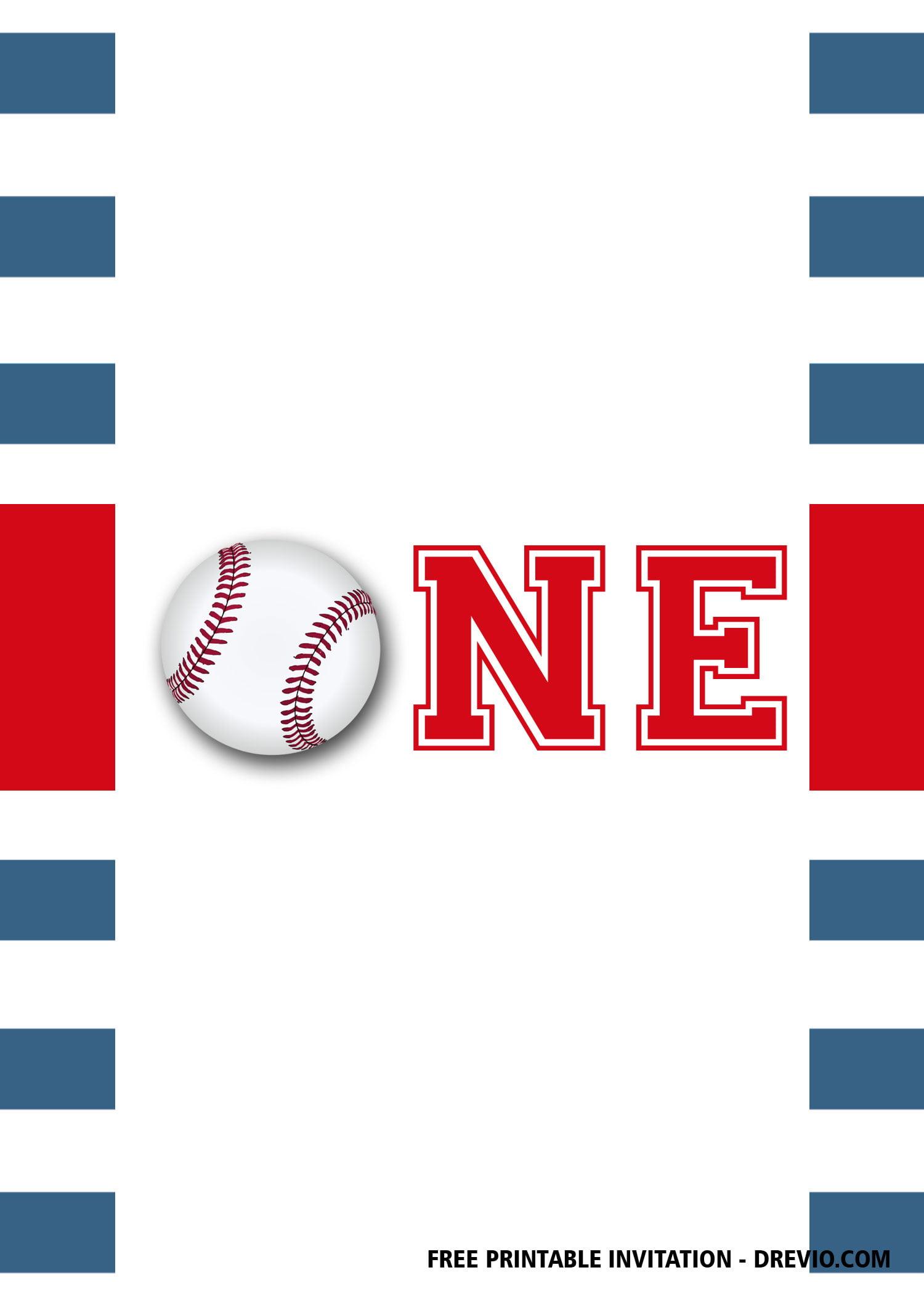 free printable baseball first birthday