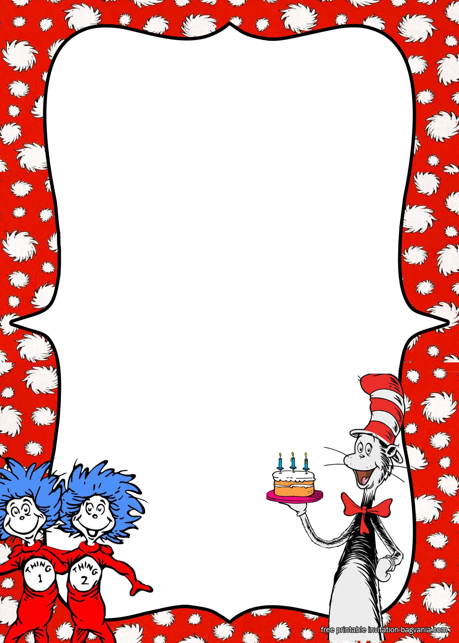 Free Printable Dr Seuss Birthday Invitation Templates