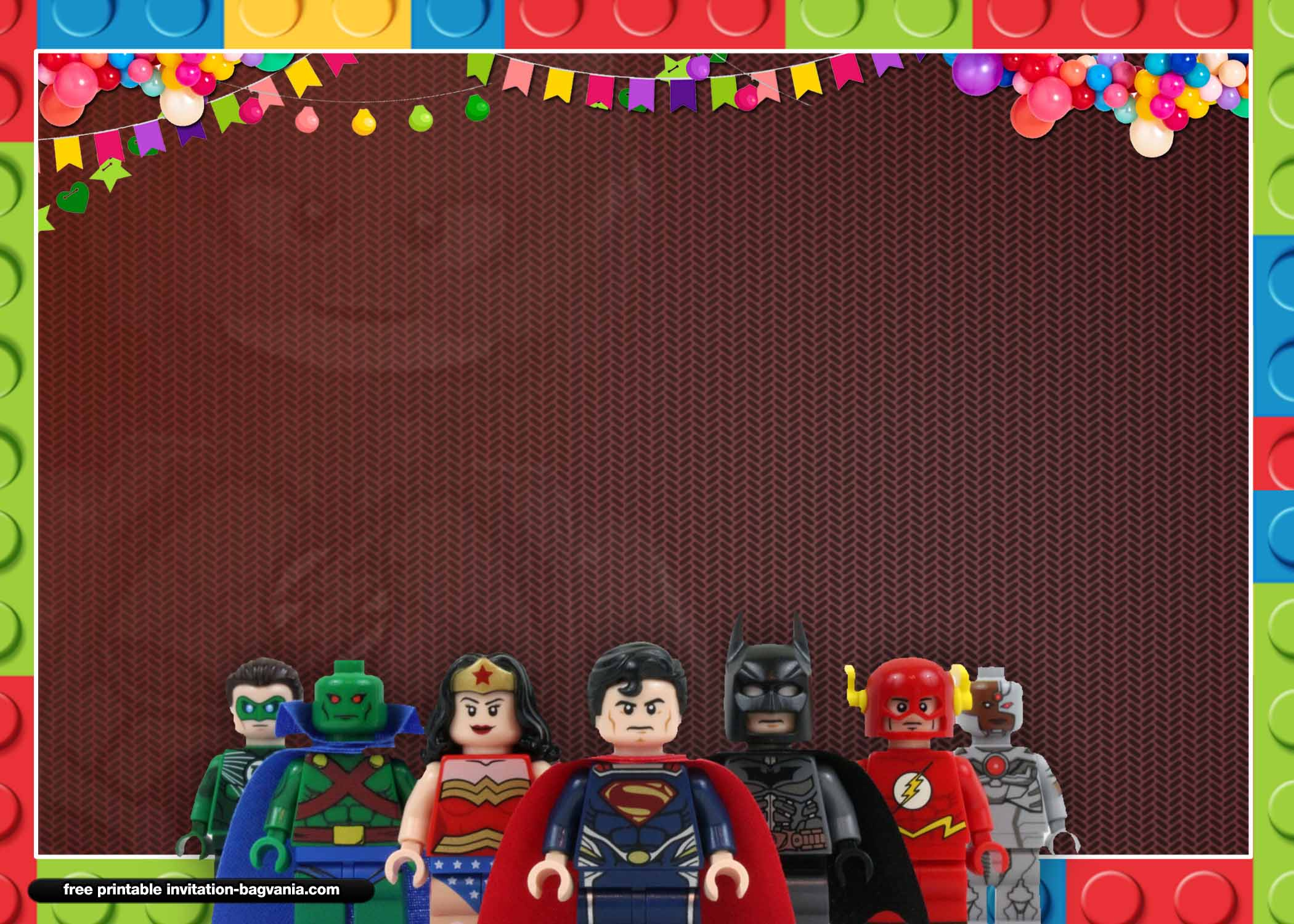 free printable lego birthday invitation