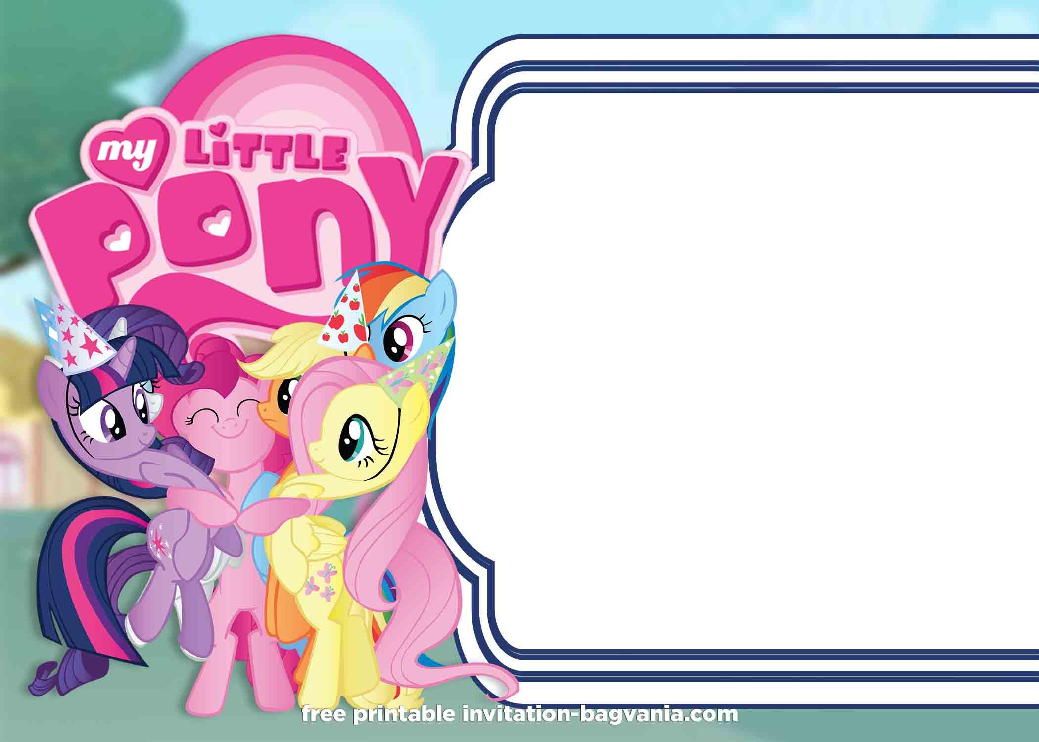 little pony summer edition invitations