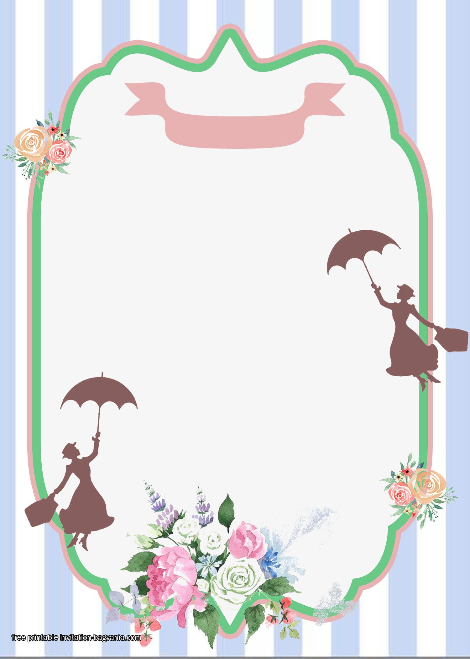 Free Printable Mary Poppins Invitation Templates Free