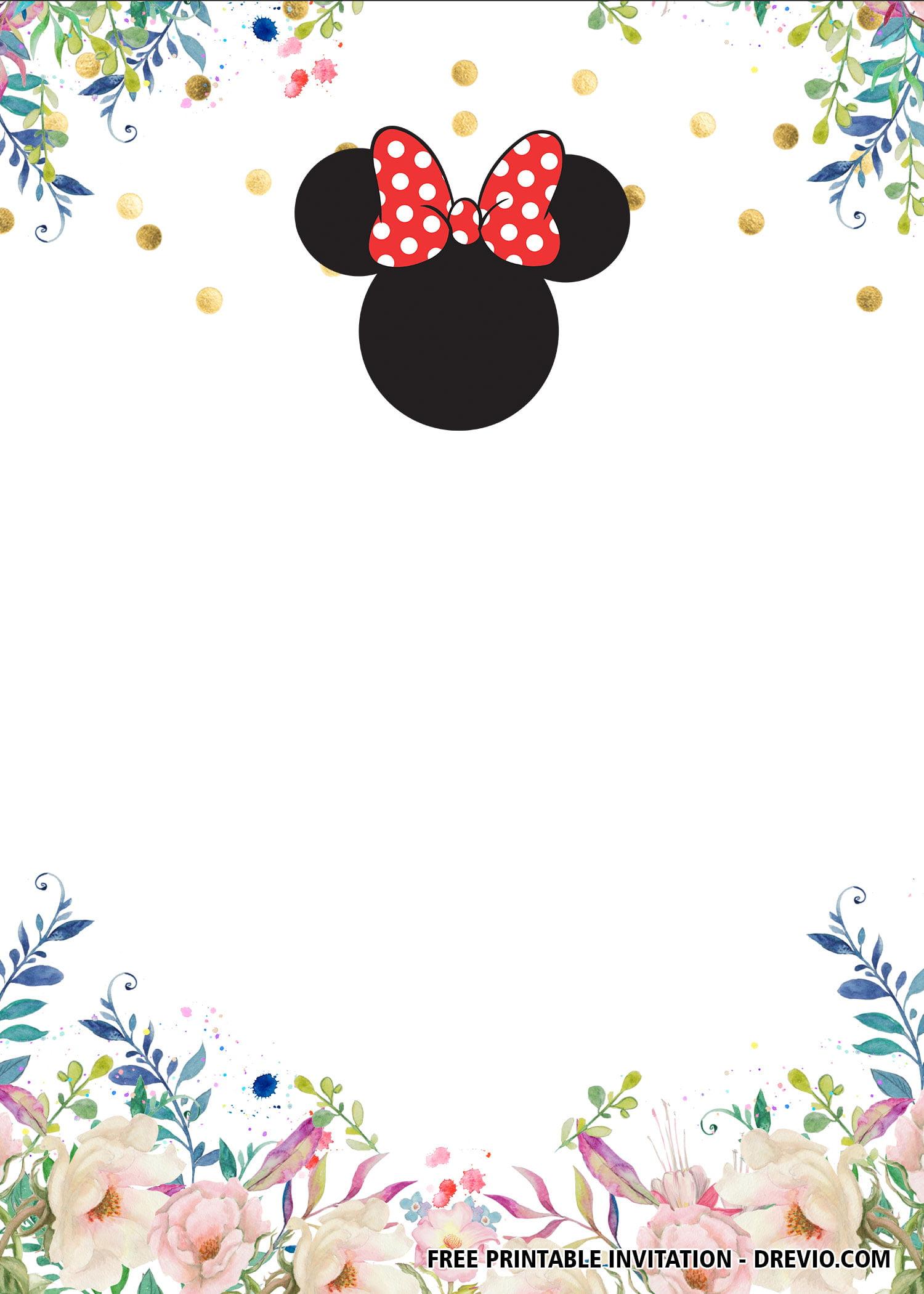 free minnie mouse invitation templates
