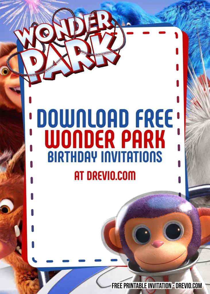 free wonder park invitation templates