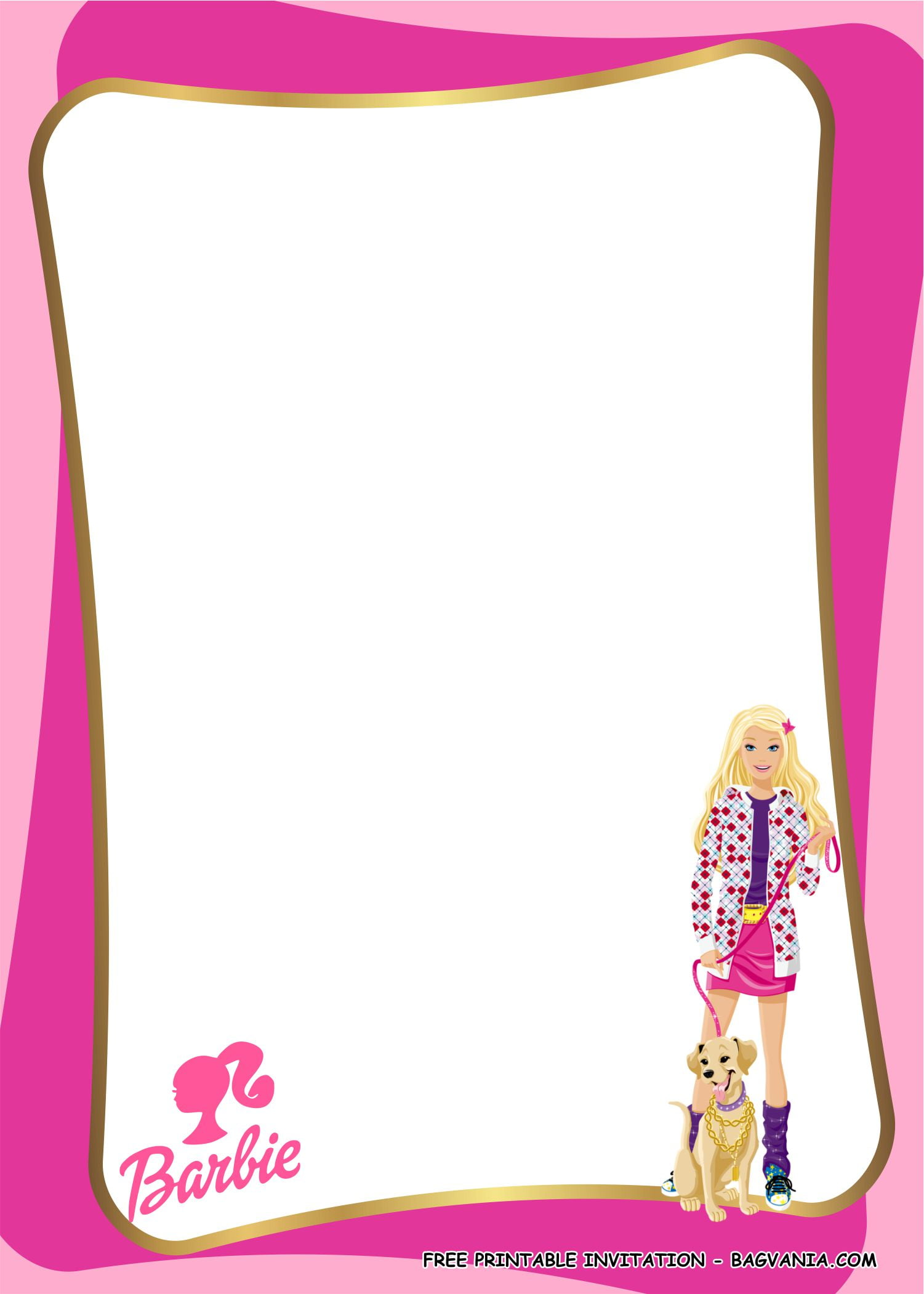 barbie invitation templates 2 free