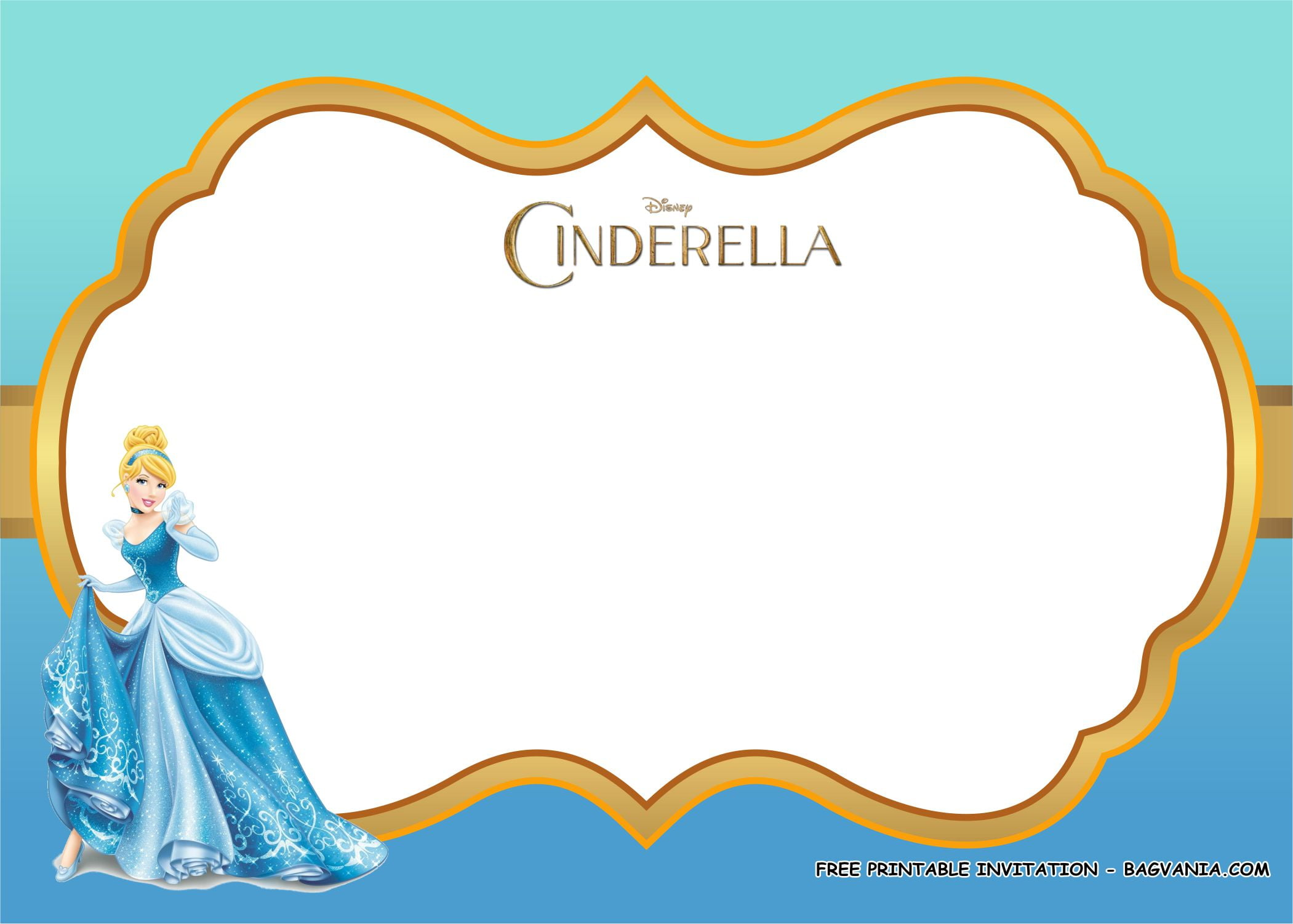 cinderella birthday party kits template