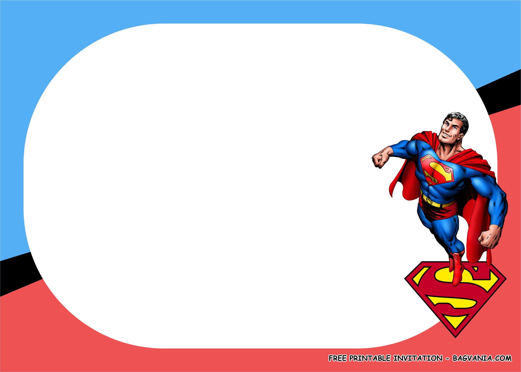 superman birthday party kits template