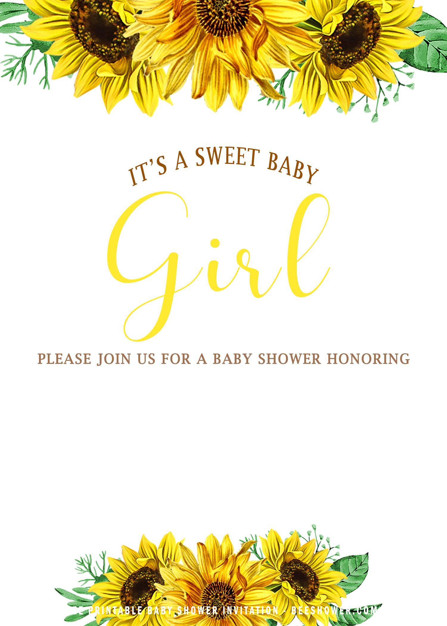 free baby invitation template