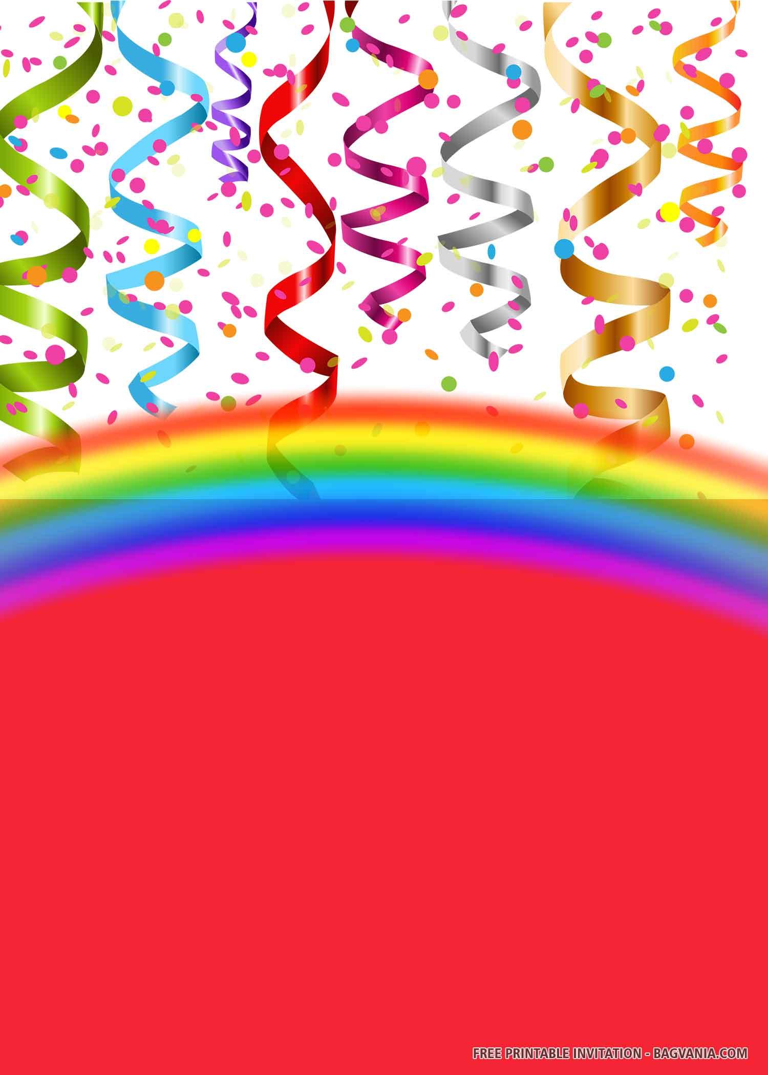 Free Printable Balloons Birthday Invitation Templates