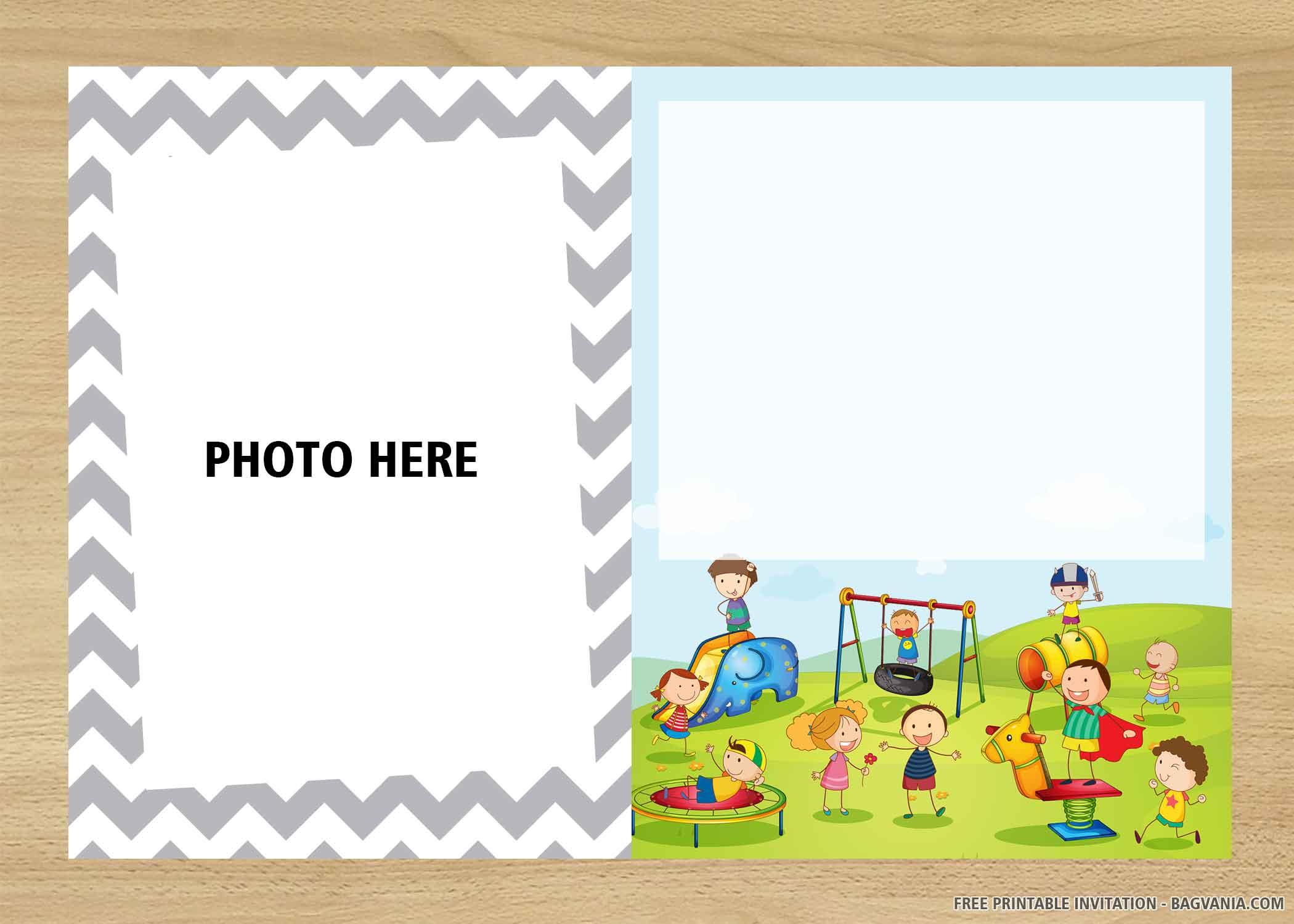 Free Printable Playground Birthday Invitation