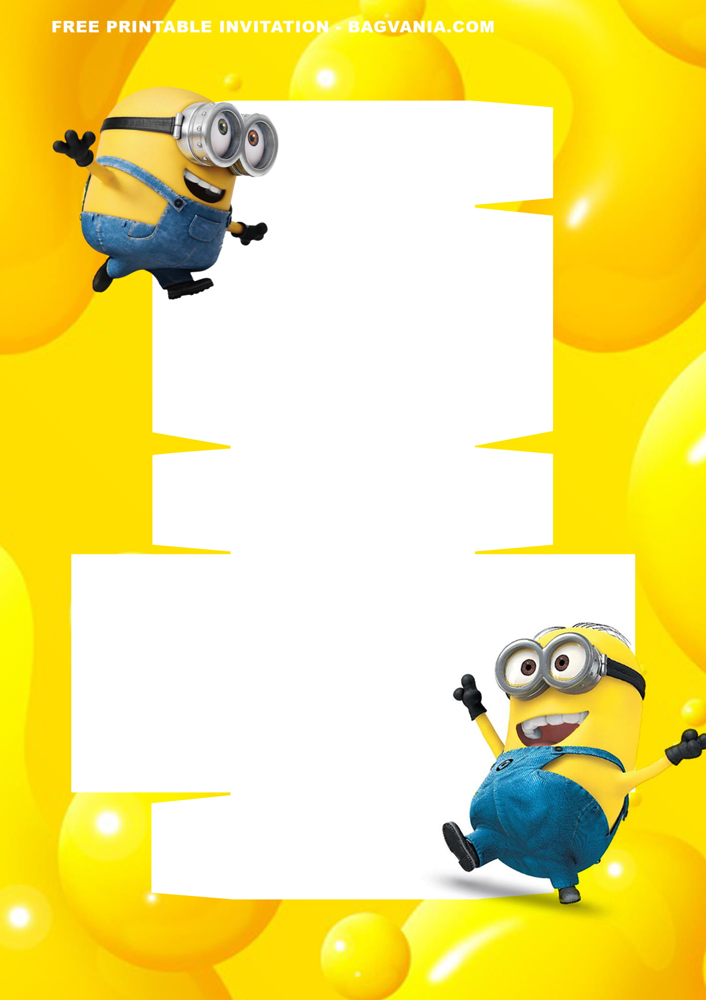free printable minions baby shower