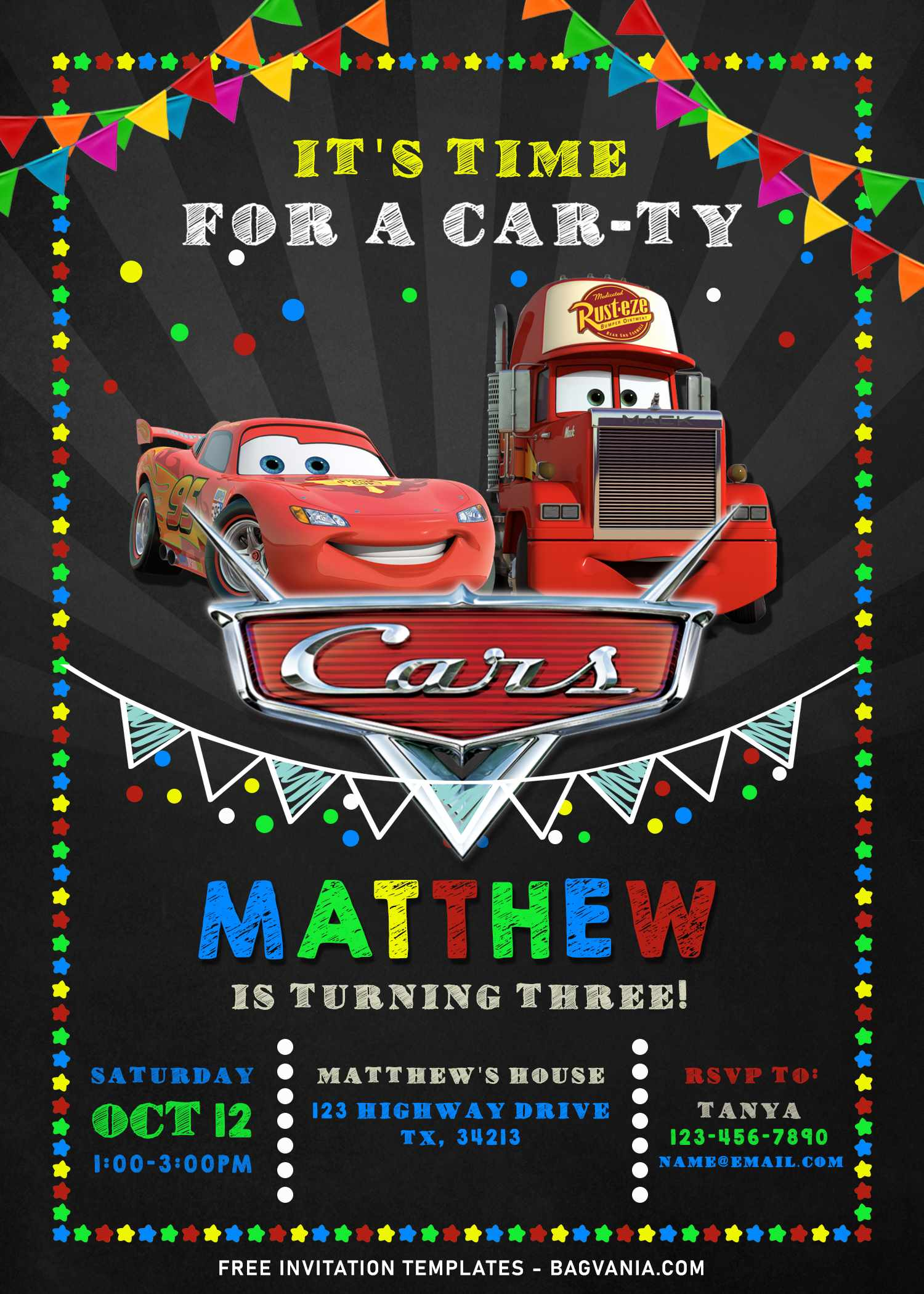 cool personalized disney cars birthday