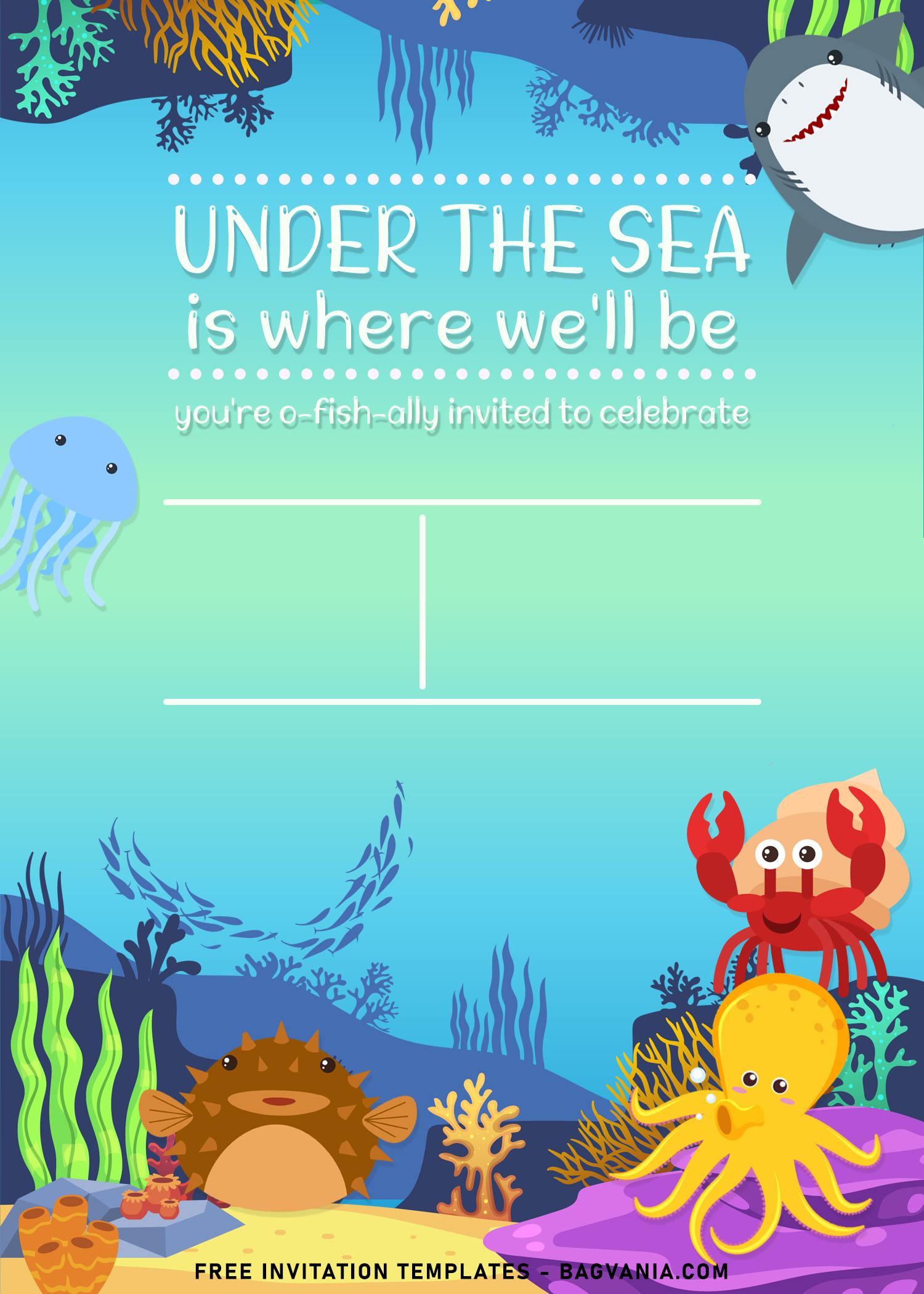 9 under the sea themed birthday