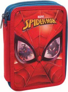55f3ace960 Κασετίνα Διπλή Γεμάτη Spiderman Face Gim 337-73100