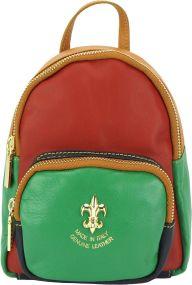 Δερμάτινη Τσάντα Πλάτης Alessia Firenze Leather 9012 Κόκκινο Πρασινο bcdab040075