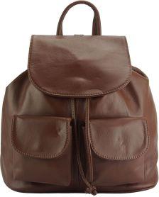 Δερμάτινη Τσάντα Πλάτης Irene GM Firenze Leather 2067 Καφε fa13d7876a4