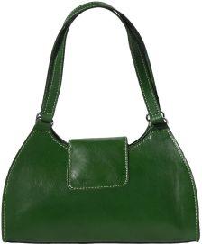 Τσαντα Ωμου Δερμάτινη Floriana Firenze Leather 6414 Σκουρο Πρασινο