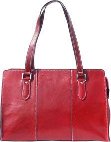 Δερμάτινη Τσάντα Ωμου Verdiana Firenze Leather 6557 Σκουρο Κόκκινο