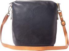 Γυναικειο Δερματινο Τσαντακι Felicita Firenze Leather 8620 Μαύρο/Μπεζ