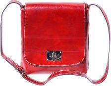 Γυναικειο Τσαντακι Ωμου Firenze Leather 6546 Κόκκινο