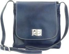 Γυναικειο Τσαντακι Ωμου Firenze Leather 6546 Σκουρο Μπλε