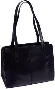 Δερμάτινη Τσάντα Ωμου Firenze Leather 6510 Μαύρο