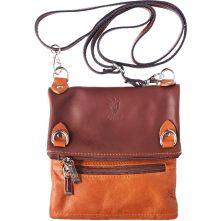 Τσαντα Ωμου Δερμάτινη Firenze Leather 408 Μπεζ/Καφε
