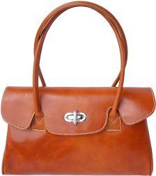 Δερμάτινη Τσάντα Χειρός Lady Firenze Leather 6544 Μπεζ