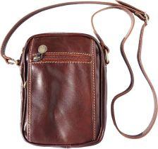 Δερματινο Τσαντακι Ωμου Firenze Leather 7625 Καφε