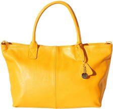Δερμάτινη Τσάντα Tote Vincenza Firenze Leather 3015 Κιτρινο