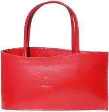 Τσαντα Χειρός Δερμάτινη Nano Firenze Leather 206 Κόκκινο
