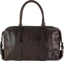 Δερμάτινη Τσάντα Χειρός Agnese Firenze Leather 68120 Σκουρο Καφε