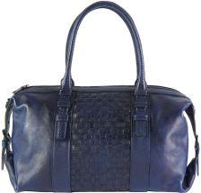 Δερμάτινη Τσάντα Χειρός Agnese Firenze Leather 68120 Σκουρο Μπλε