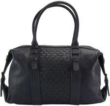 Δερμάτινη Τσάντα Χειρός Agnese Firenze Leather 68120 Μαύρο