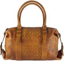 Δερμάτινη Τσάντα Χειρός Agnese Firenze Leather 68120 Μπεζ