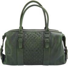 Δερμάτινη Τσάντα Χειρός Agnese Firenze Leather 68120 Σκουρο Πρασινο