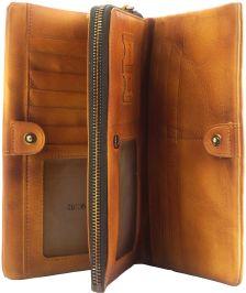 Γυναικειο Δερματινο Πορτοφολι Boris Firenze Leather 53514 Μπεζ