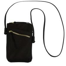 Δερματινο Τσαντακι Ωμου Adriana Firenze Leather 8612 Μαύρο