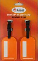 Σετ 2 Ετικετες Αποσκευών Benzi BZ4066 Πορτοκαλι