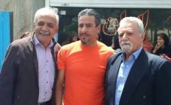 Mahmoud Badavam (à gauche), Ramin Zibaie (au centre) et Farhad Sedghi (à droite), trois baha'is impliqués dans l'Institut bahá'í d'enseignement supérieur, ont été libérés de prison après avoir purgé leur peine de quatre ans.