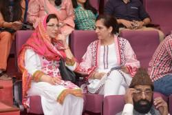 Des membres du public lors du rassemblement du 13 septembre 2017 commémorant le bicentenaire de la naissance de Bahá'u'lláh.