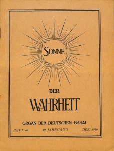 En 1921, deux publications ont vu le jour en Allemagne : « Sonne der Wahrheit » (Soleil de Vérité) et « Wirklichkeit » (Réalité).