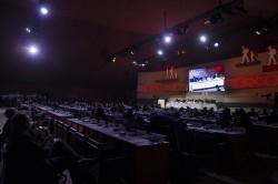 Plus de 3 200 personnes ont assisté à la récente conférence des Nations unies sur les migrations, à Marrakech, au Maroc. (Photo ONU/Sebastien Di Silvesto)