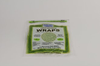 Wrap, Tortilla Spinach 12″