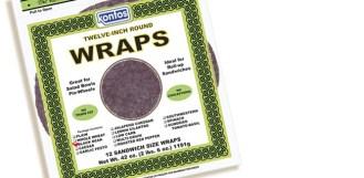 Wrap, Tortilla Black Bean 12″