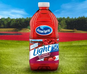 Light Cranberry & Raspberry Flavored Juice Drink
