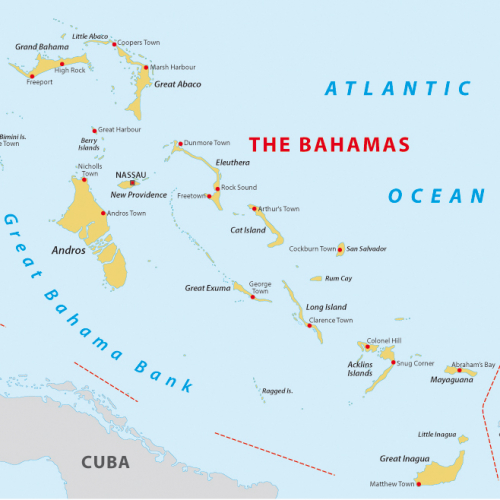 Map of The Bahama Islands