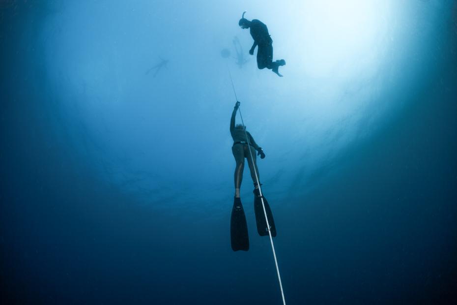 Free Diving Dean's Blue Hole Long Island Bahamas