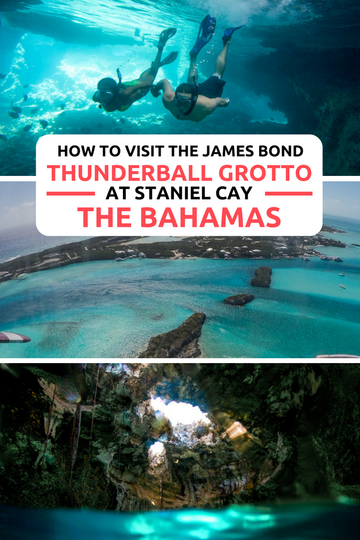 Thunderball Grotto: One of the top things to do in Bahamas. The famous James Bond Thunderball Grotto is located at Staniel Cay in the Exuma Islands. Also found there are the Bahamas Pigs (swimming pigs) which live at nearby Pig Beach. Snorkel into the Thunderball Grotto cave on a Bahamas Day Trip, the ultimate Bahamas Vacation, Honeymoon or Wedding activity! Take a Staniel Cay Day Trip from Nassau Paradise Island with Bahamas Air Tours.#Bahamas