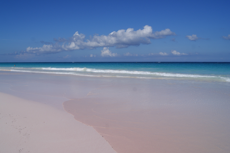 Island with Pink Sand is Pink Sands Beach on Harbour Island home to Dunmore Town Bahamas