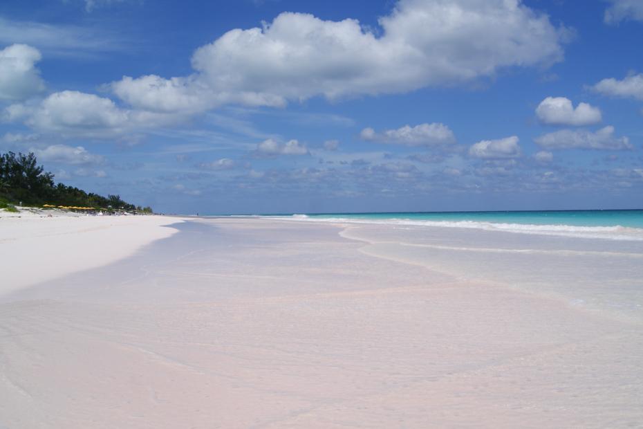 Pink sands Beach Bahamas on Harbour Island.